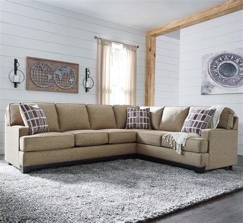 benchcraft sectional benchcraft larkhaven contemporary 2 piece sectional with