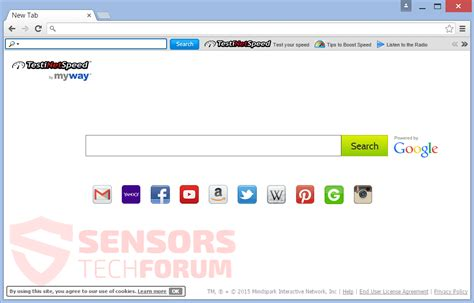 New Search Engines Remove Testinetspeed By Myway Sensorstechforum