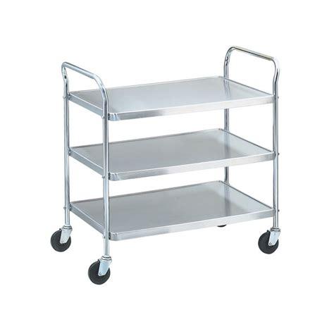 stainless steel shelves restaurant supply utility cart 3 stainless steel shelves vollrath 97105