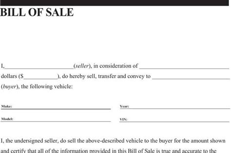 general bill of sale template general bill of sale template