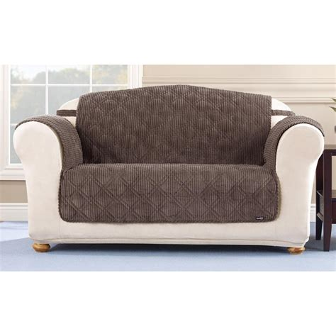 corduroy couch cover sure fit 174 quilted corduroy loveseat pet cover 292845