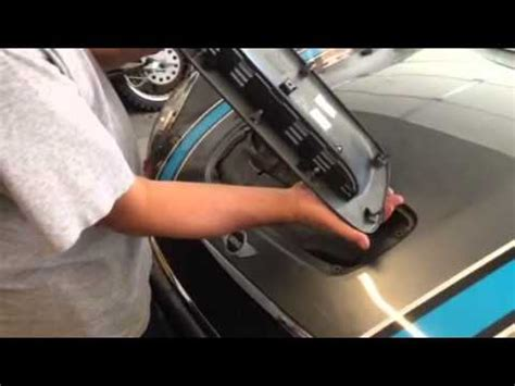mini cooper 2007 to 2013 how to install lowering springs how to remove install hood scoop on 2007 2013 mini cooper s model youtube