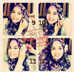 Cara Memakai Jilbab Segi Empat Modis cara memakai jilbab sifon segi empat simple tutorial