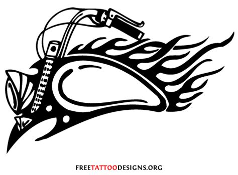 tribal motorcycle tattoo biker and harley davidson tattoos