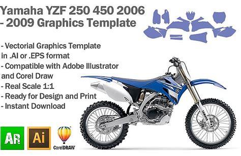 Yamaha YZF 250 450 MX Motocross 2006 2007 2008 2009