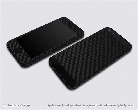 Original Viseon Iphone 5 Carbon Textured for apple iphone 5 model a1428 a1429 black carbon fiber