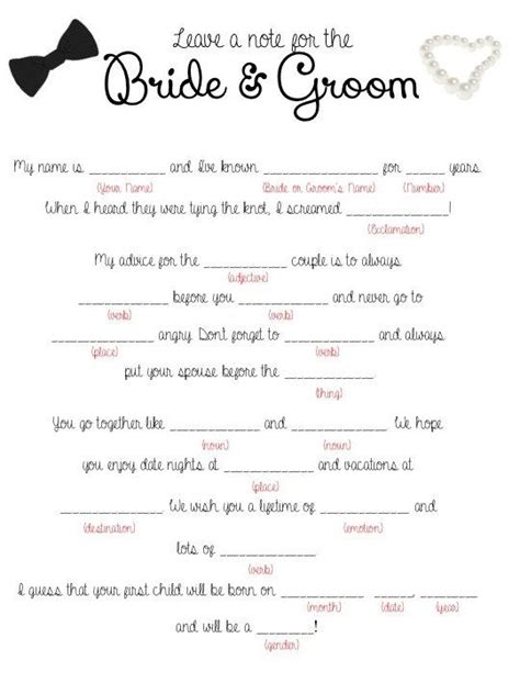 mad libs template wedding mad libs free template help write vows the