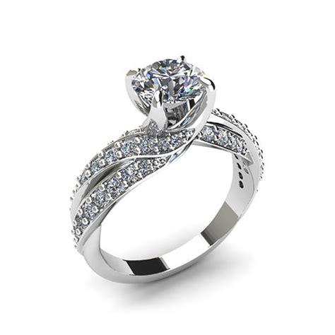 swirl engagement ring jewelry designs