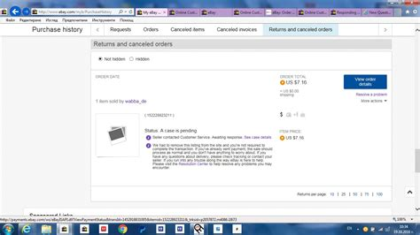ebay purchase history i didn t get my item i opened a request but stil