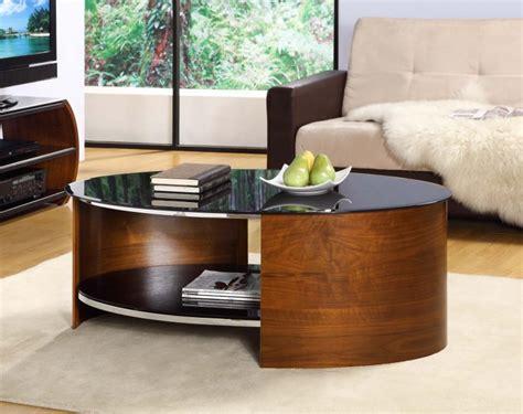 jual san marino walnut black glass curved wood oval