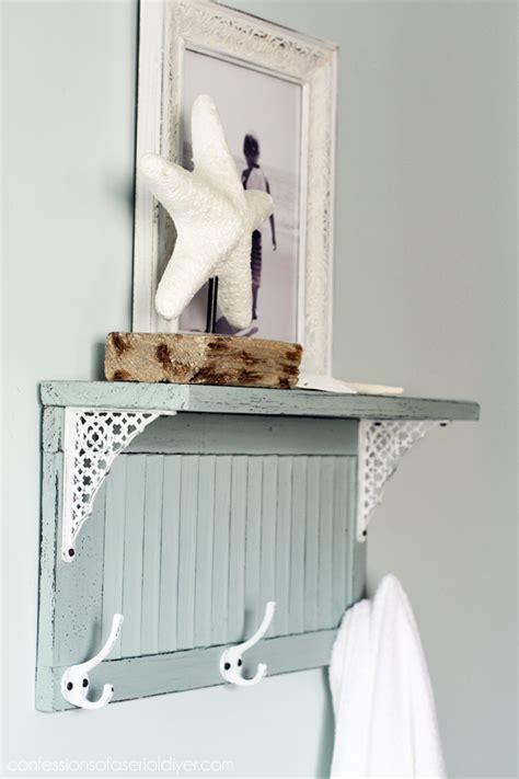 Diy Shower Shelf by Diy Bathroom Shelf From An Shutter Shelterness