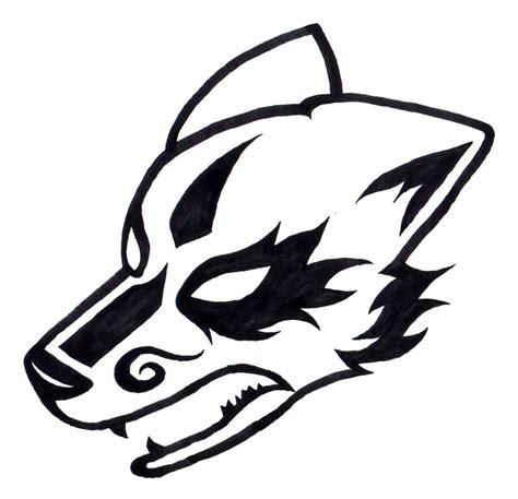 tribal wolf head tattoo wolf tribal drawings
