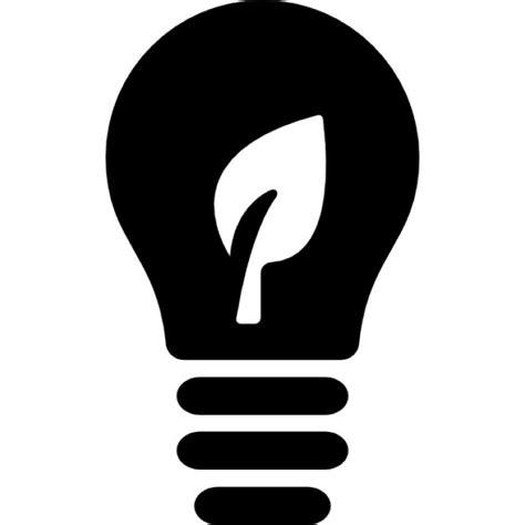 ecological lightbulb symbol icons free