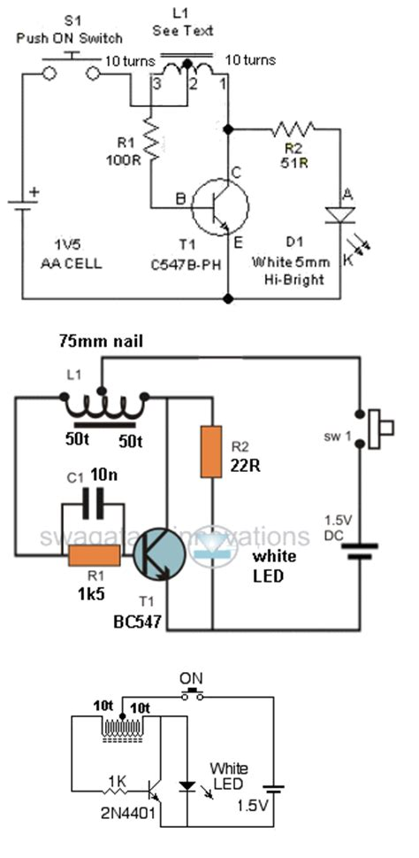 adding capacitor to joule thief led torch