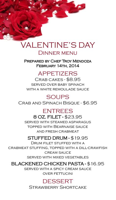 valentines day restaurant menu cajun creole food cajun food louisiana history and a