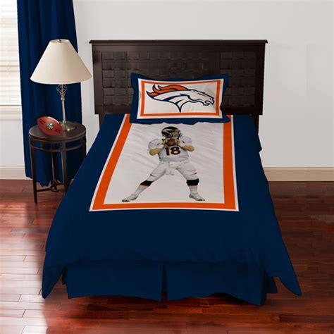 denver broncos comforter biggshots denver broncos peyton manning bedding comforter