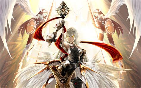 anime armor girl wallpaper image armour blonde girl wings girls anime 2880x1800