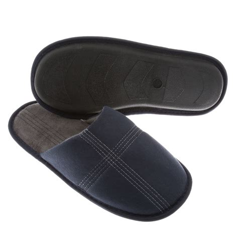 memory foam slippers mens b m