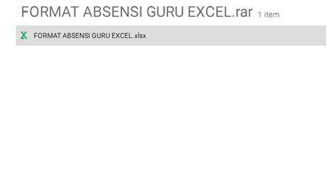 format absensi guru smp download contoh format daftar absensi guru clik file drive