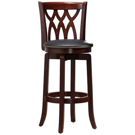 Cherry Bar Stools by Boraam Cathedral 29 In Swivel Bar Stool Cherry
