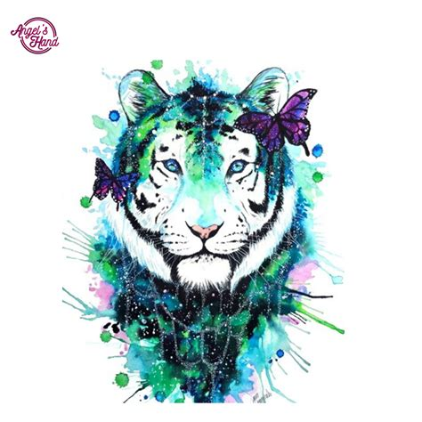 Diy Painting 5 s diy painting 5d white tiger butterfly
