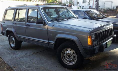 jeep sedan 1989 jeep 4wd cherokee suv wagon 4 door pioneer sport