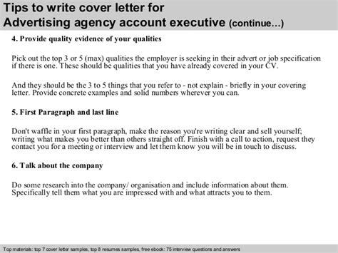 account executive cover letter advertising agency account executive cover letter
