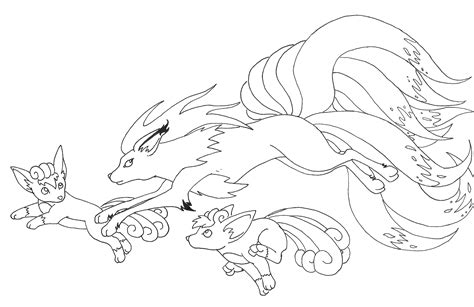 pokemon coloring pages vulpix vulpix and ninetales by saij spellhart on deviantart