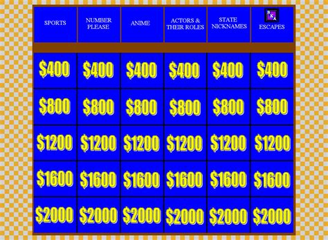 double jeopardy round board by bka chief on deviantart
