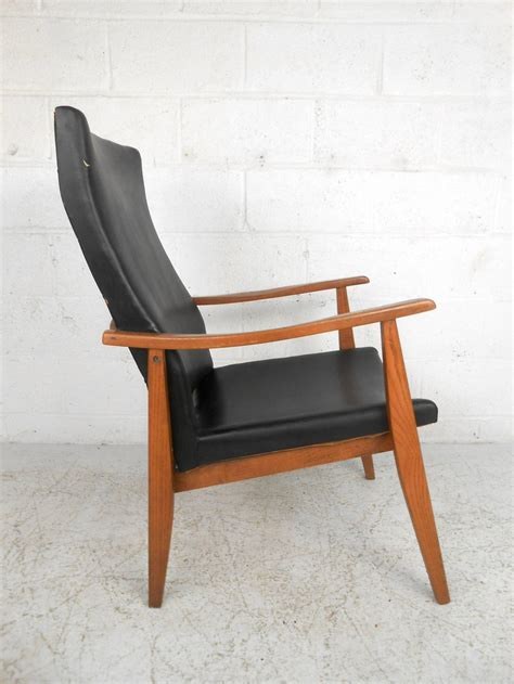 Mid Century High Back Chair by Mid Century Modern American High Back Lounge Chair At 1stdibs