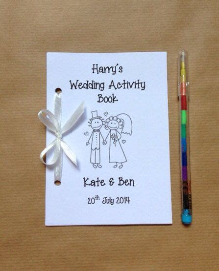 personalised childrens wedding activity pack