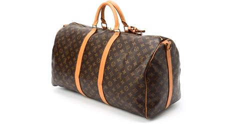 Bag Travel Lv W8020 lyst louis vuitton monogram keepall 55 bandou travel bag in metallic