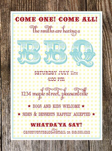 backyard barbecue invitation summer bbq by