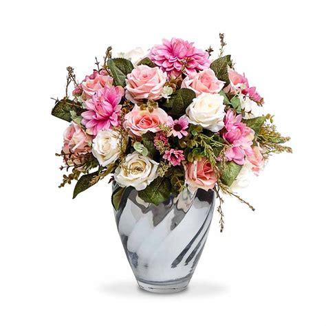 imagenes de vasos vintage arranjo de flores artificiais rosas coloridas provencais