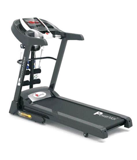 Treadmill Elektrik 2 Hp powermax fitness tdm 105 m motorized treadmill 2 0 hp buy at best price on snapdeal