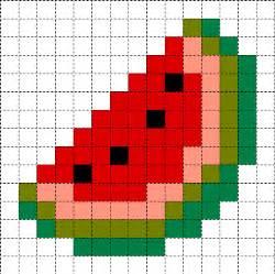 Minecraft Pixel Templates Easy by Minecraft Pixel Templates Melon Slice