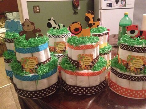 How To Make Baby Shower Centerpieces With Diapers by Jungle Baby Shower Cake Centerpieces Baby Showers