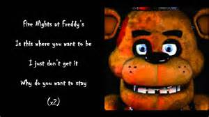 The living tombstone five nights at freddy s lyrics youtube