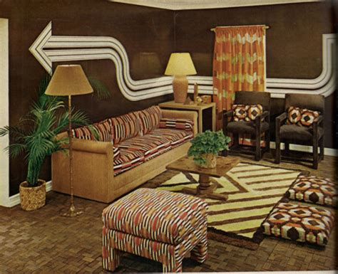 1970s interior design living room inspiration 60s 70s tickle me vintage