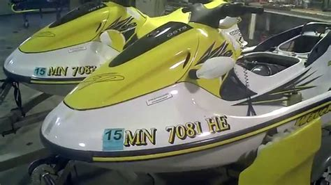 Jet Sky Yamaha Waverunner Xl760 for sale matching pair 1997 yamaha gp760 jet skis