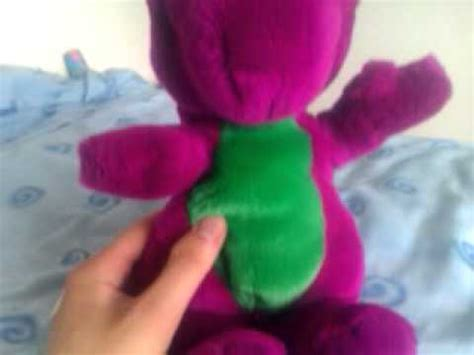 barney and the backyard gang toy 1992 lyons golden bear closed mouth barney doll w t shirt