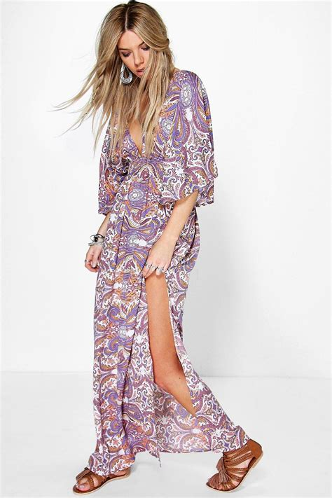 Chesse Pattern Maxi paisley maxi dress fashion dresses