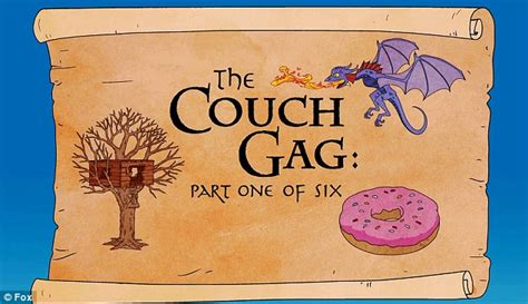 the simpsons couch gag game the simpsons couch gag parodies the hobbit animation