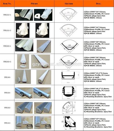 List Alumunium U types of aluminum profiles led aluminum profiles