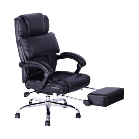 Reclining Office Chairs With Footrest by Executive Reclining Office Chair With Footrest Ergonomic High Back Leather Picture 61 Chair Design