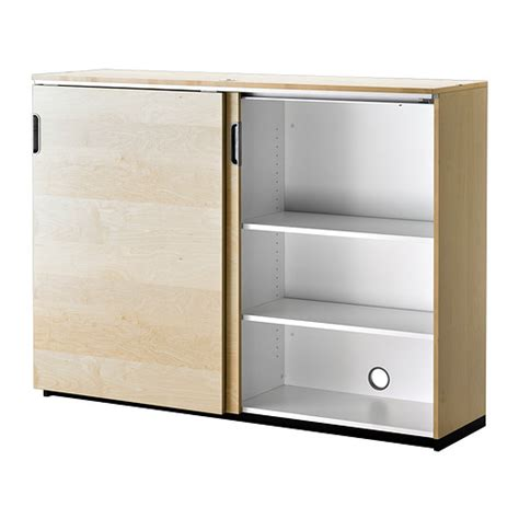 Sliding Cupboard galant cabinet with sliding doors birch veneer 160x120 cm ikea