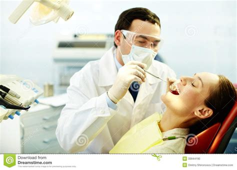Dentist Chair checking up teeth stock photo image 33944190