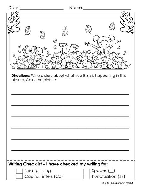 Printable Math Journal Prompts For First Grade | november printables first grade literacy and math