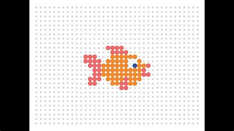 hama fish hama bead goldfish sea series 9