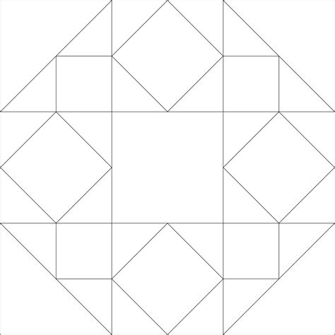 template pattern imaginesque quilt block 42 pattern templates